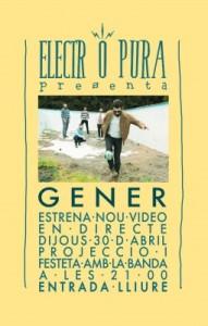 'Gener' estrena nou vídeo en directe