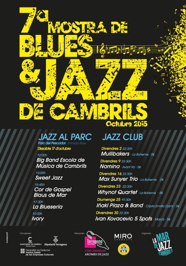 Cartell 7a mostra Blues & Jazz de Cambrils