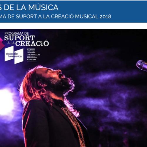 Les Cases de la Música obren la convocatòria del Programa de suport a la creació musical 2018