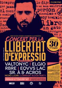"""30 de març """"Concert per la llibertat d'expressió"""""""